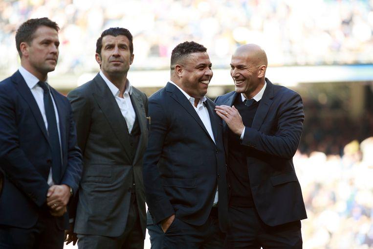 Michael Owen, Luis Figo, Ronaldo en Zinedine Zidane.