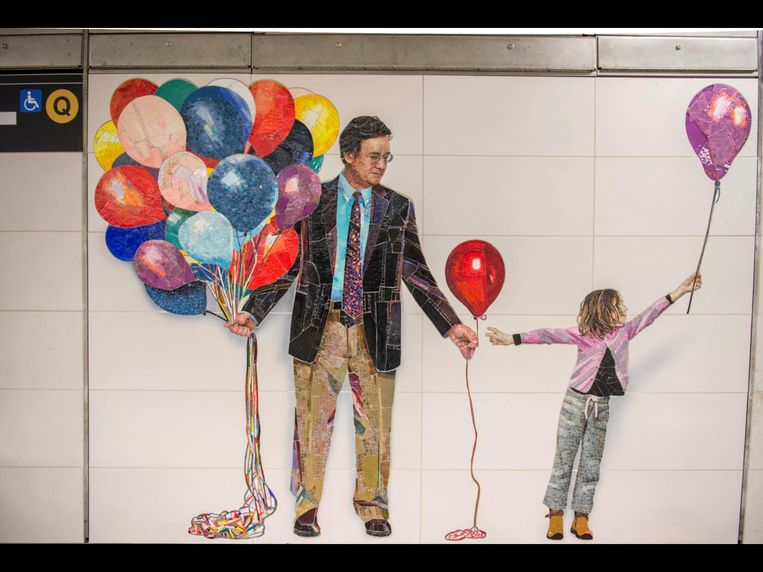 Een muurschildering in de Second Avenue-lijn in New York. Beeld AP