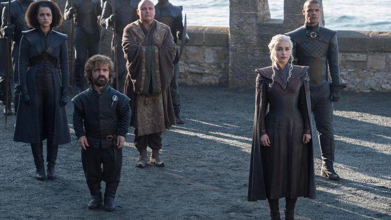 Pas op: de finale van Game of Thrones moet wel in stilte gekeken worden! Beeld Helen Sloan/HBO