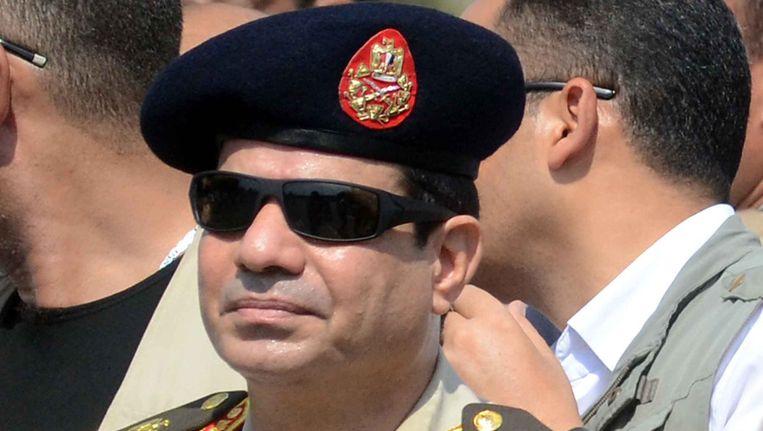 De miltaire machthebber in Egypte, Abdel Fattah al-Sisi, is tot maarschalk bevorderd Beeld AFP