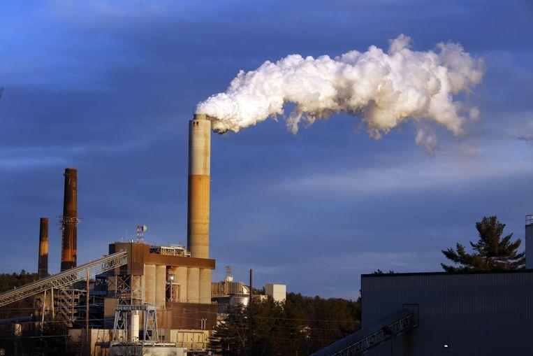 Een kolencentrale in de Amerikaanse staat New Hampshire. Beeld ap