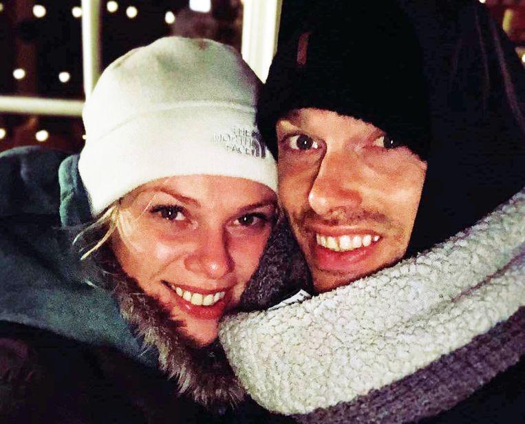 Elke en Regi op vakantie in Lapland.