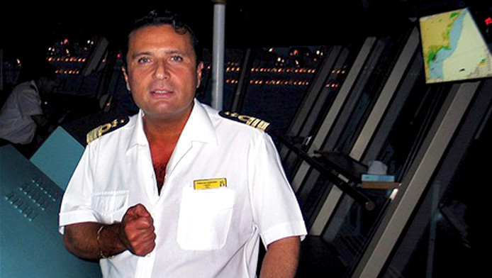 Kapitein Francesco Schettino.