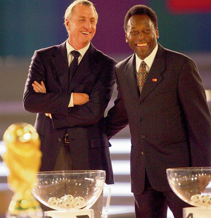 In 2005 met Johan Cruijff bij de WK-loting in Leipzig.