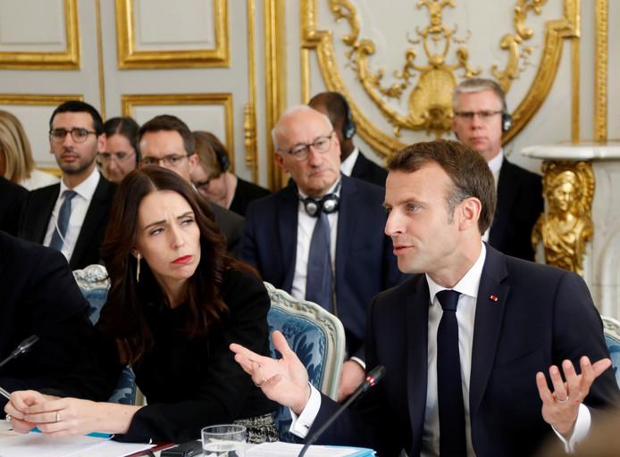 Jacinda Ardern et Emmanuel Macron.
