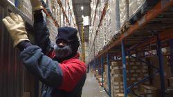 Buiten 30 graden, -30 op het werk: zo voelt werken in de diepvriesafdeling van Colruyt