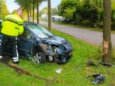 Automobilist gewond na knal tegen boom op de Lochemseweg in Warnsveld
