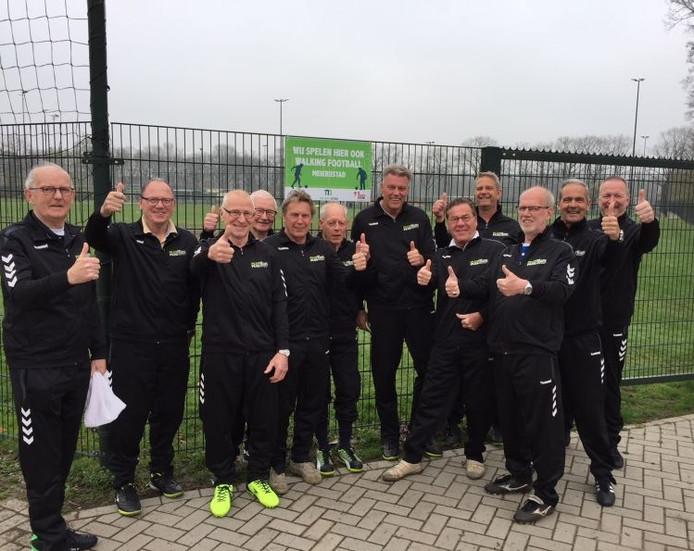 Het Walking Football-team van Avanti'31 in Schijndel.