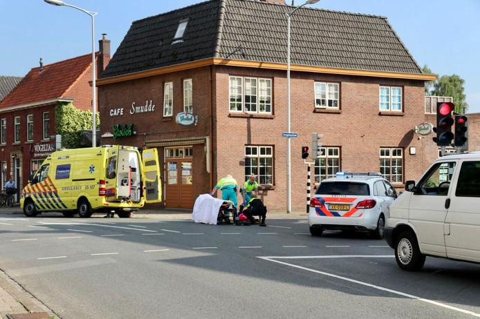 De hulpdiensten in Oldenzaal waren snel ter plaatse