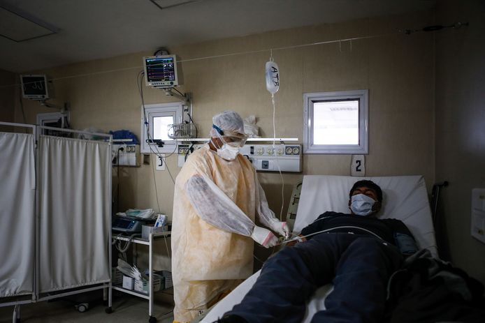 Dans un hôpital en Argentine.