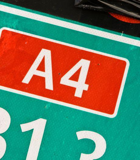 A4 richting Amsterdam komend weekend 's nachts afgesloten