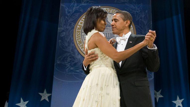 2009: Michelle Obama in Jason Wu. Beeld anp