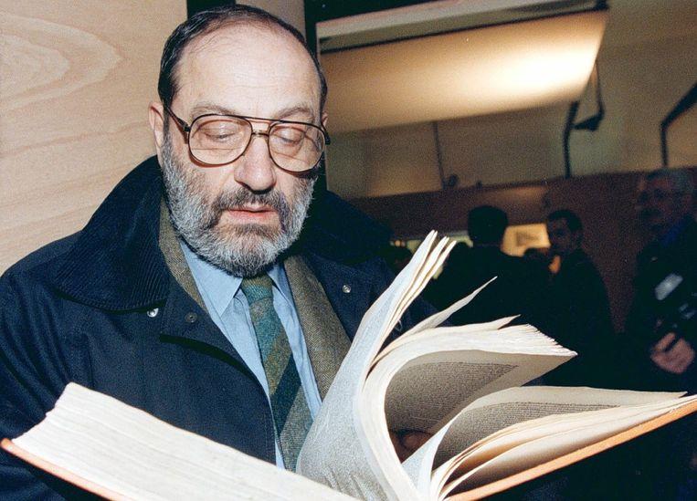 Umberto Eco in 2000 Beeld epa