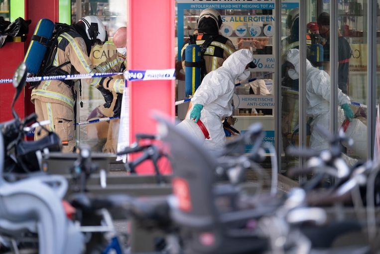 Bij De Voorzorg in Mechelen is wit poeder gevonden bij de post. De Désiré Boucherystraat werd afgesloten, hulpdiensten kwamen ter plaatse