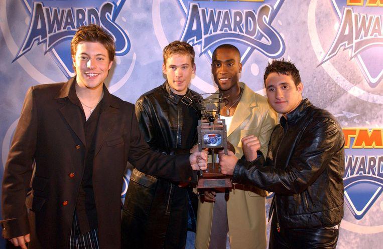 Blue in 2001: Duncan, Lee, Simon en Antony