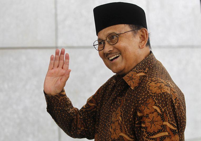 De Indonesische oud-president Bacharuddin Jusuf Habibie, hier op archiefbeeld uit 2016.  Beeld REUTERS