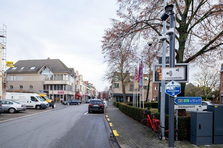 Trajectcontrole in de August Van Landeghemstraat
