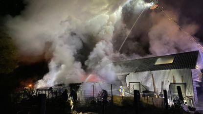 Buurt opgeschrikt door felle brand in magazijn