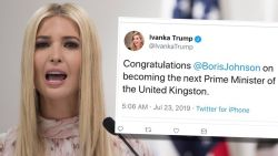 Ivanka feliciteert Boris Johnson met premierschap 'United Kingston' en is opnieuw kop van Jut