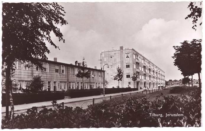 De Tilburgse wijk Jeruzalem rond 1958.