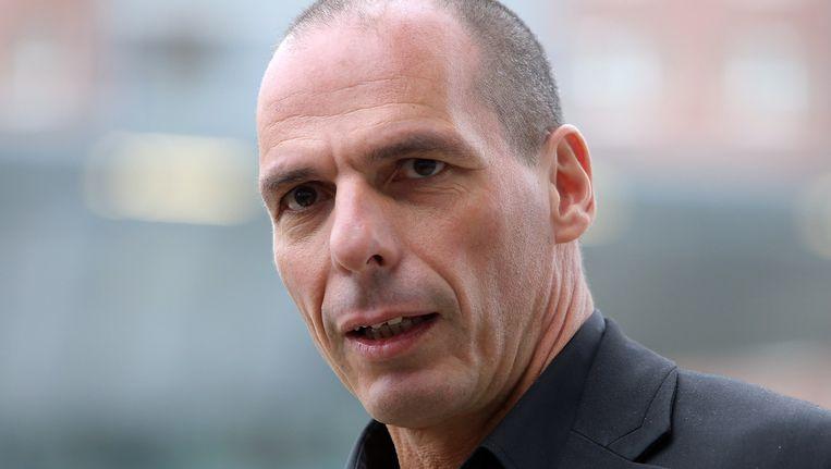 De nieuwe Griekse minister van financiën Gianis Varoufakis. Beeld getty