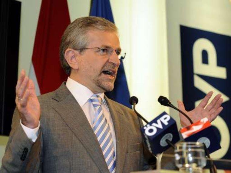 Vicekanselier Wilhelm Molterer riep vanmorgen op tot nieuwe verkiezingen.