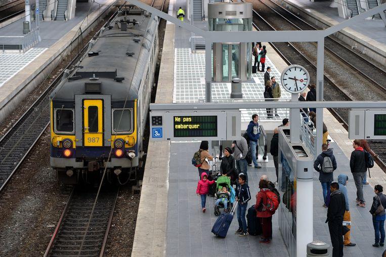 Onder meer in het station van Luik ondervonden reizigers hinder.