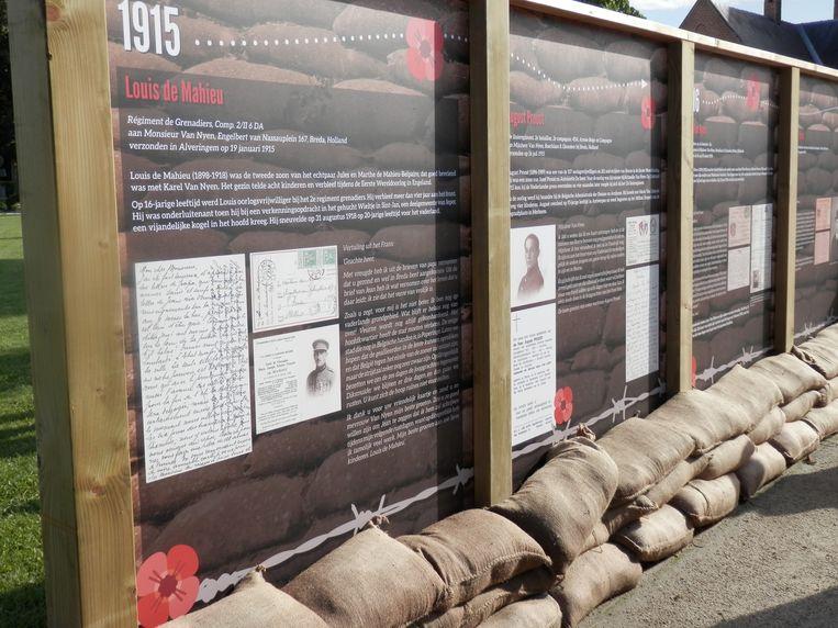 Een beeld van het openingsmoment 100 jaar herdenking WOI in Beerse.