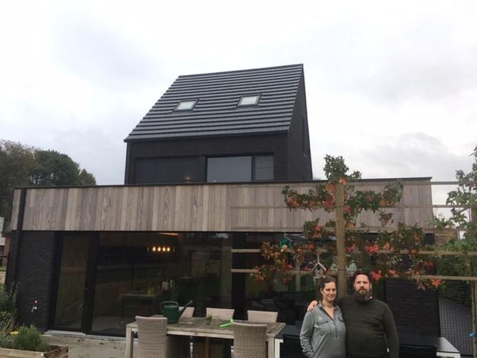 La maison en ossature de bois est très éconergétique. « Un choix conscient », selon Patrick. « Avec un niveau E de 8, on est allé loin en termes d'efficacité énergétique et de durabilité. »