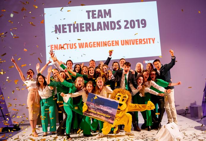 De winnende studenten van Enactus Wageningen