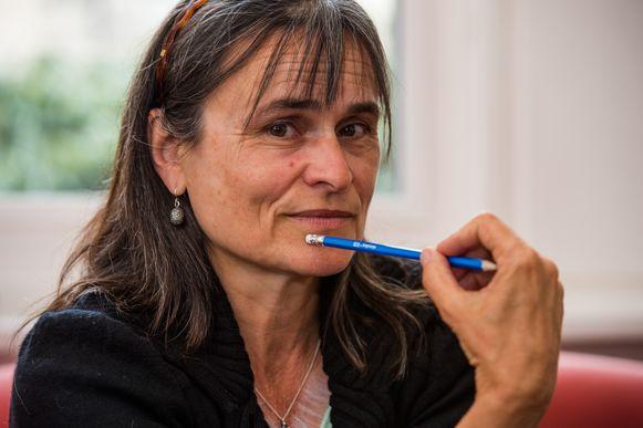 Portret Kristien Hemmerechts naar aanleiding van haar boek over Michèle Martin.