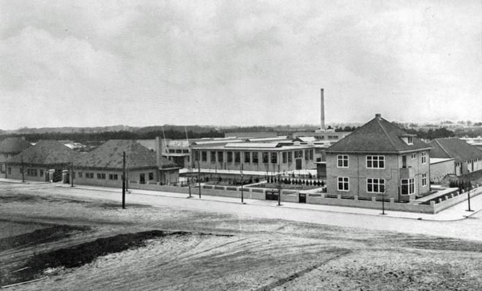Het voormalige slachthuis van Eindhoven in Tongelre. Op het nu braakliggende terrein komen 300 tijdelijke studentenwoningen.
