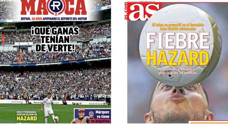 De covers van Marca en AS.