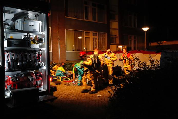 Brand in een appartementencomplex aan de Offenbachlaan.