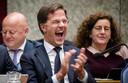 Premier Mark Rutte tijdens de Algemene Politieke Beschouwingen vorig jaar, die volgen op de presentatie van de Miljoenennota en de rijksbegroting.