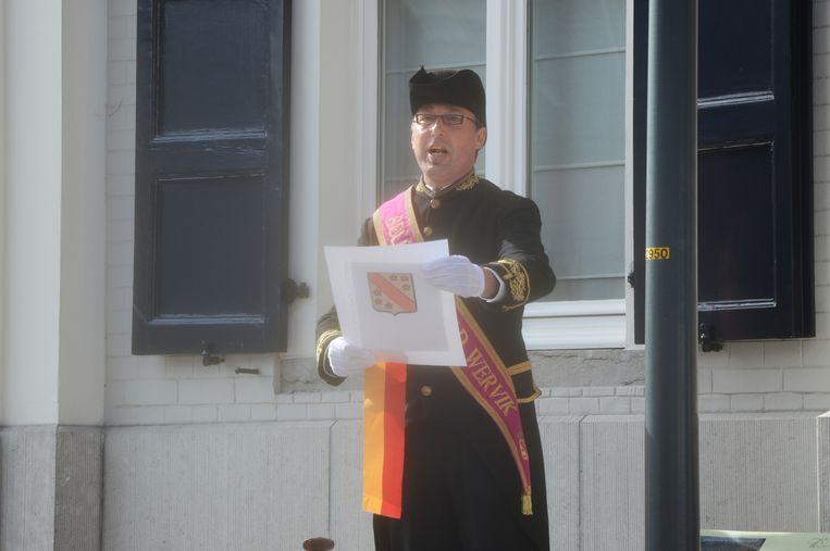 Nick Pauwels, belleman van Wervik.