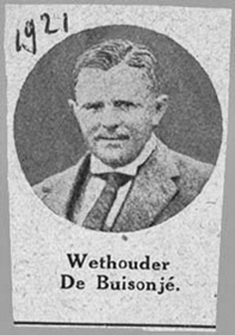 Wethouder Willem de Buisonjé. Was hij ook fout in de oorlog? Beeld