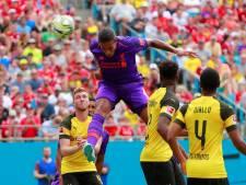 Van Dijk scoort voor Liverpool tegen winnend Borussia Dortmund