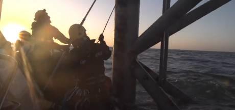 Actie Greenpeace op boorplatform in Noordzee voorbij