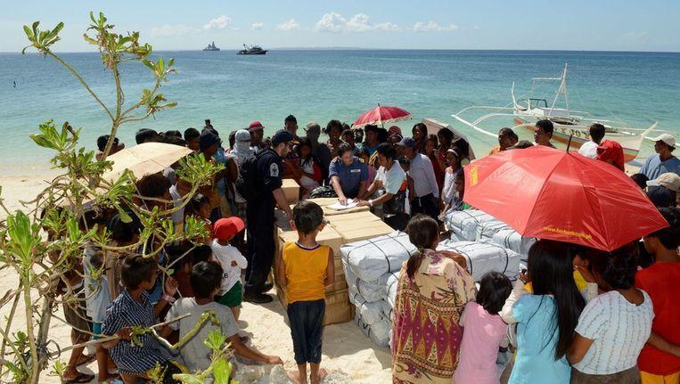 Humanitaire hulp bij Cebu. Beeld epa