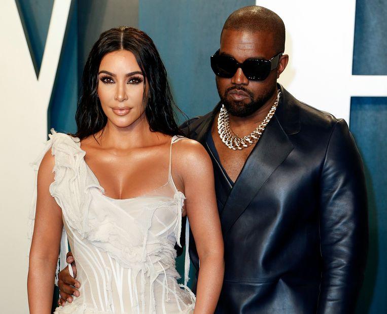 Kim Kardashian en Kanye West. Beeld Hollandse Hoogte / EPA