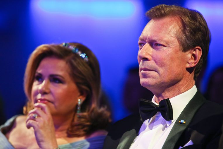 Groothertog Henri (64) en groothertogin María Teresa Mestre (63), in Cuba geboren, maar grotendeels in Zwitserland opgegroeid.