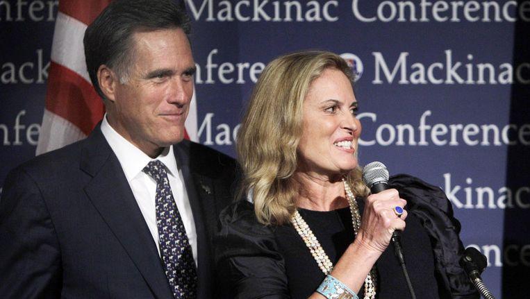Mitt Romney en zijn vrouw. Beeld ap