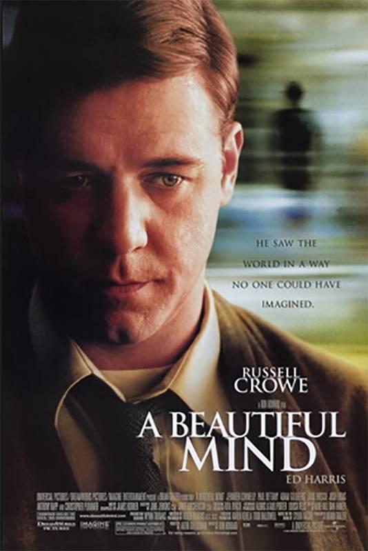 Russell Crowe speelde John Nash in het bekroonde 'A Beautiful Mind'.