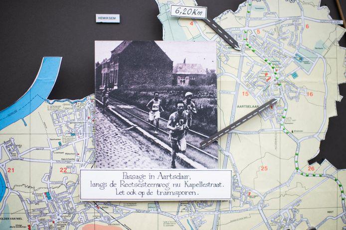 De passage van de Olympische Spelen in Aartselaar in 1920.