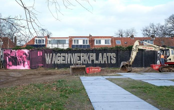 Het project Soesterhof: op dit deel van de Wagenwerkplaats verrijzen de eerste woningen.