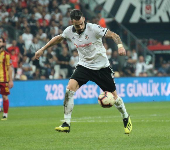 Alvaro Negredo, hier in actie voor Besiktas.