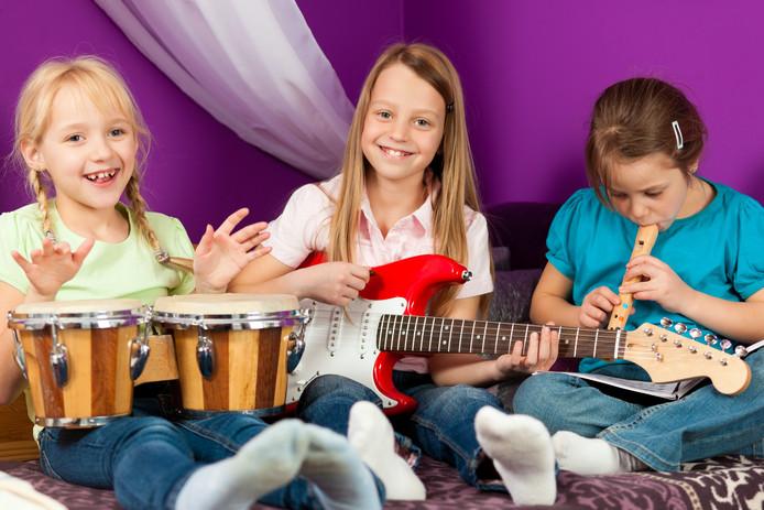 Muziekles met ondersteuning door Stichting Leergeld.
