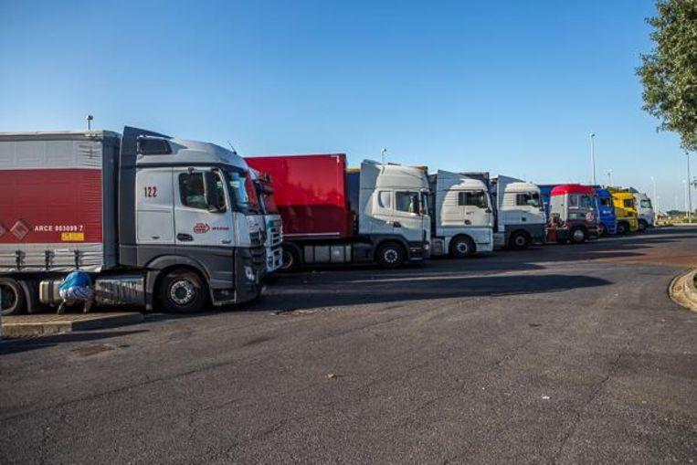 Op de snelwegparking in Mannekensvere staan dagelijks heel wat vrachtwagens gestationeerd. Dat wil Dedecker nu onmogelijk maken, ofwel de parking volledig sluiten.