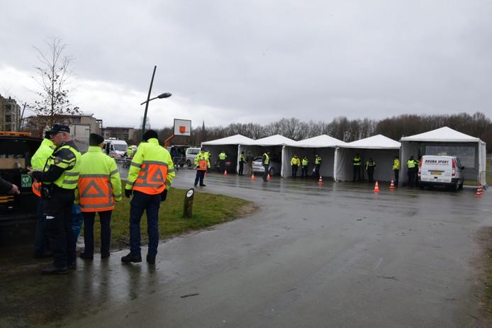 De controle in Etten-Leur.